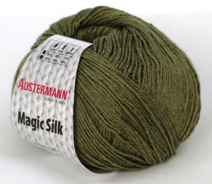 kol. 005 Khaki   Magic Silk 100% jedwab Austermann