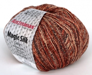 kol. 101 Zimt Magic Silk Color 100% jedwab Austermann
