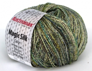 kol. 106 Salbei Magic Silk Color 100% jedwab Austermann