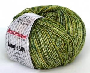 kol. 107 Birke Magic Silk Color 100% jedwab Austermann
