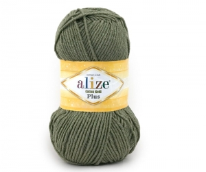 włóczka Alize Cotton Gold Plus 270 j. khaki